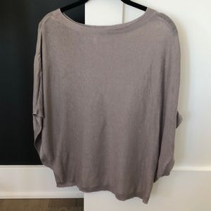 Joie pale grey poncho sweater